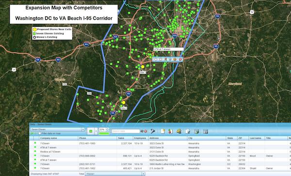 Map-based market analysis