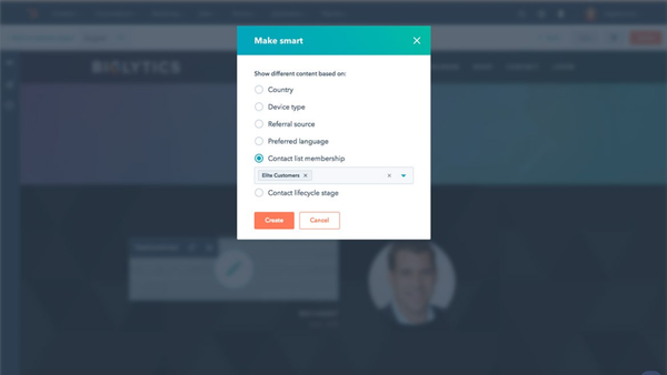 HubSpot CMS Hub personalized targeting