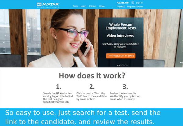 HR Avatar employment tests
