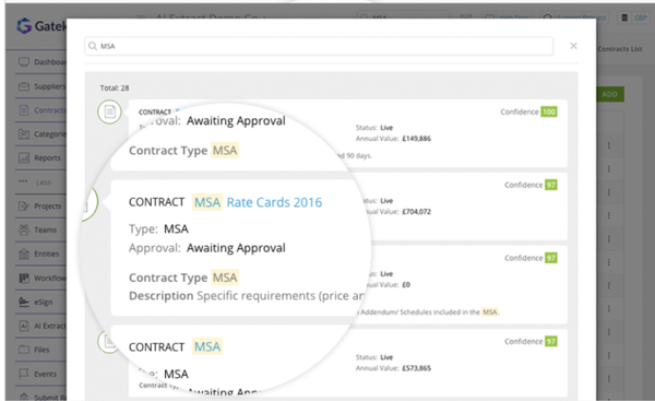 ContractNow Find Engine