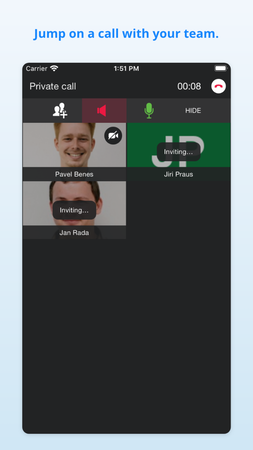 Audio and video calling