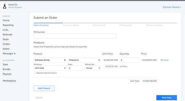 PartnerStack Order Management