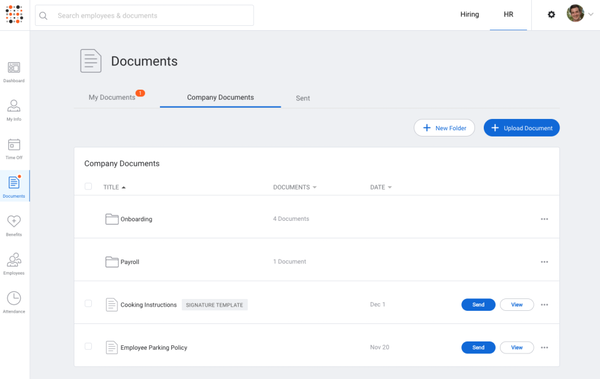 SimplyHired HRIS - documents