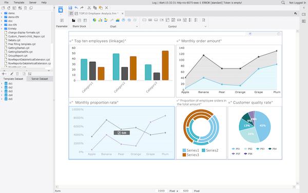 FineReport employee analysis screenshot