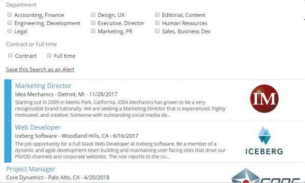 JobBoardHQ job search screenshot