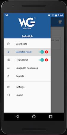 WebGreeter navigation menu screenshot