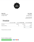Sunrise - Sunrise invoice screenshot