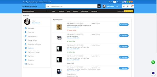Purchase Commerce customer login