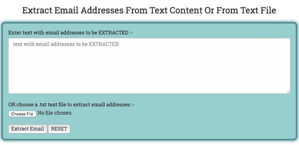 Extracting email from text content