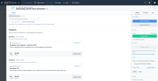 Contentful - Optimizely A_B testing