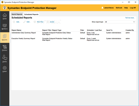 Symantec Endpoint Protection Reports