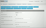 Omnistar Affiliate system settings screenshot