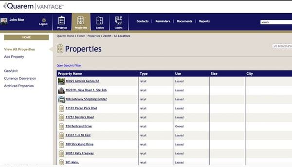 Quarem property lists