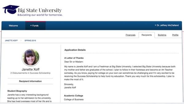 Blackbaud Award Management application details