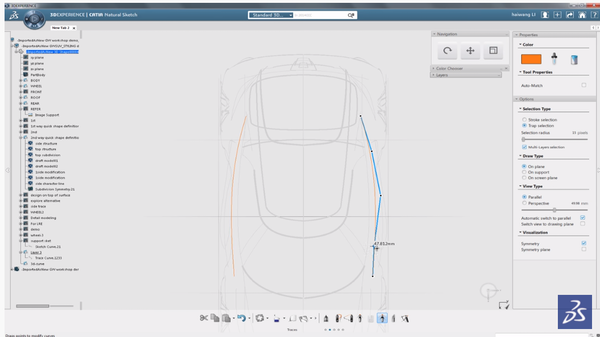 CATIA 3D curves control points
