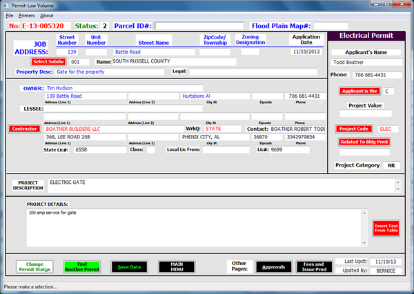 Permit-LV contractor details