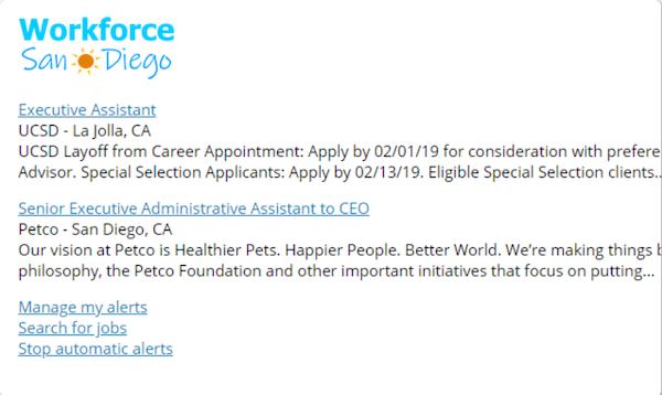 JobBoardHQ job alerts screenshot