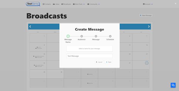 TextSanity creating message screenshot