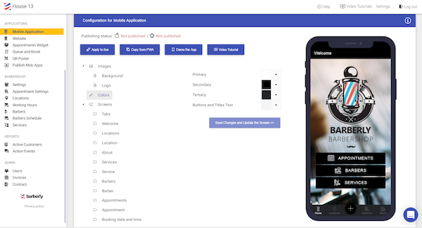 Barberly mobile application