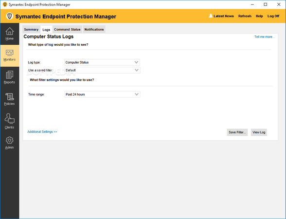 Symantec Endpoint Protection Status Logs