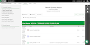 STACK Takeoff & Estimating - Takeoff quantity report