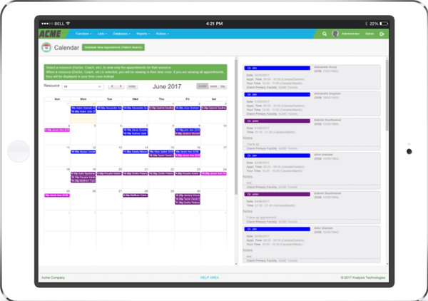 Cannabis Patient Manager calendar