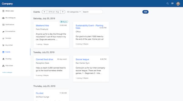 OfficeAccord events screenshot
