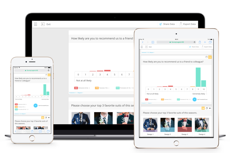 Preview collected data on any device