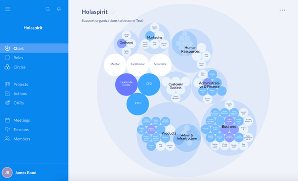 Holaspirit organizational chart