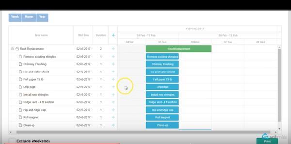 Softimate scheduler screenshot