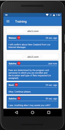WebGreeter training screenshot