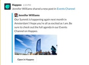 Happeo Slack integration screenshot