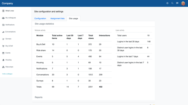 OfficeAccord settings screenshot