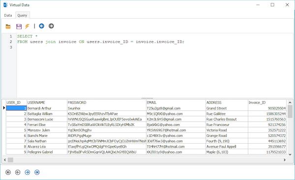 ERBuilder SQL query interface