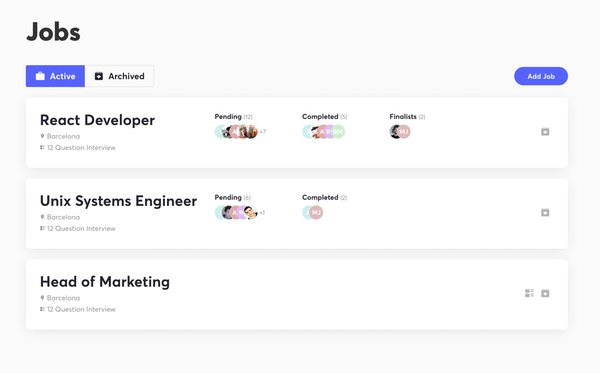 Hireflix interview tracking
