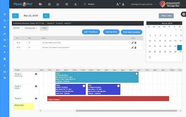 MoveitPro schedule screenshot