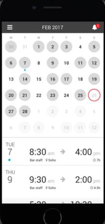 Fourth scheduling screenshot