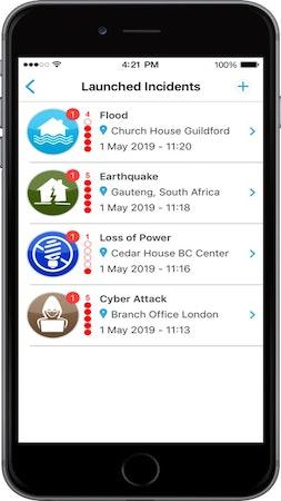 Crises Control launched incidents