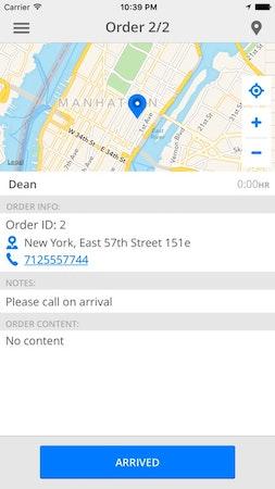 DelivApp order details