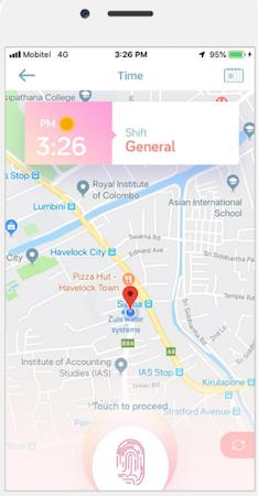MiHCM time & attendance screenshot