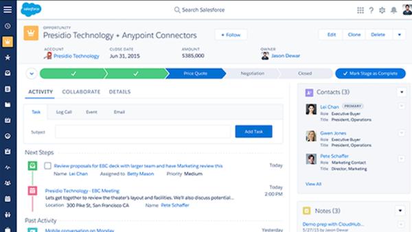 Salesforce Health Cloud price quote screenshot