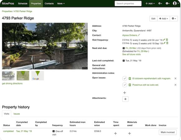 SortScape client history screenshot
