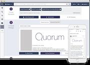 Quorum email template screenshot