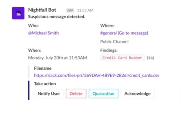Nightfall DLP chat bot