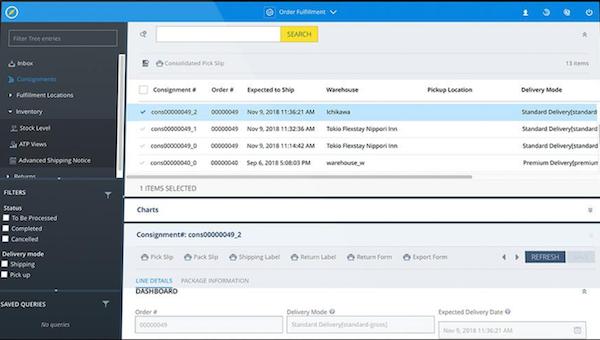 SAP Commerce Cloud orders