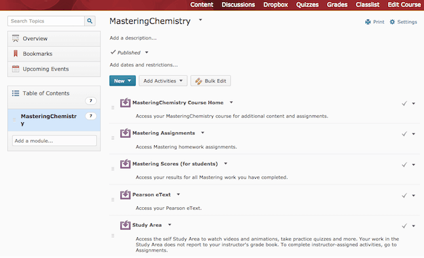 MyLab chemistry homework and assignment