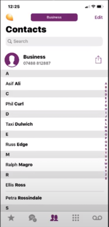 PiPcall contacts