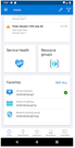 Microsoft Azure mobile dashboard