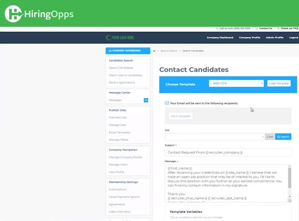 HiringOpps candidate communication