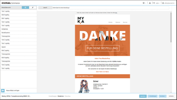 Inxmail commerce